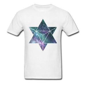 Custom T Shirt For Men,  Tetrahedron / Merkabah Image