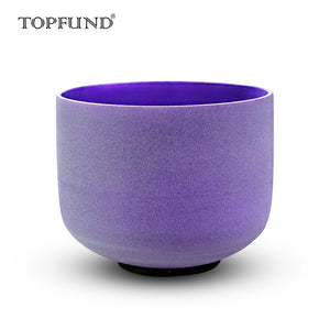 "A# Pineal Chakra  Crystal Singing Bowl, violet-colored, Frosted 10"", O-ring and mallet included"