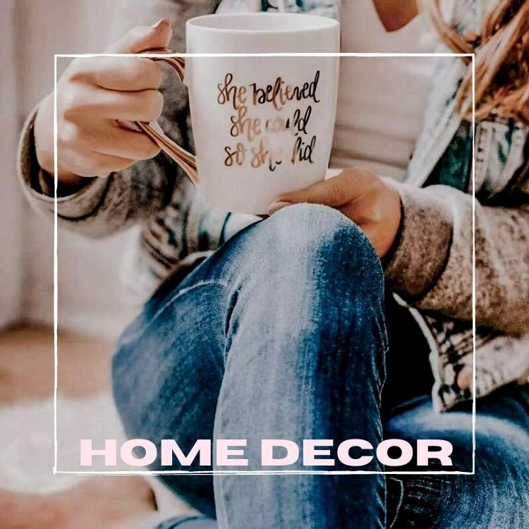 Shop home decor styles online in Canada at Oak&Pearl Clothing Co boutique store. Graphic cups, chunky knit blankets, soy scented candles and so much more!