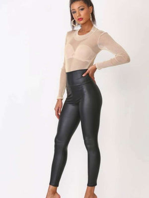 Faux Leather Matte Leggings
