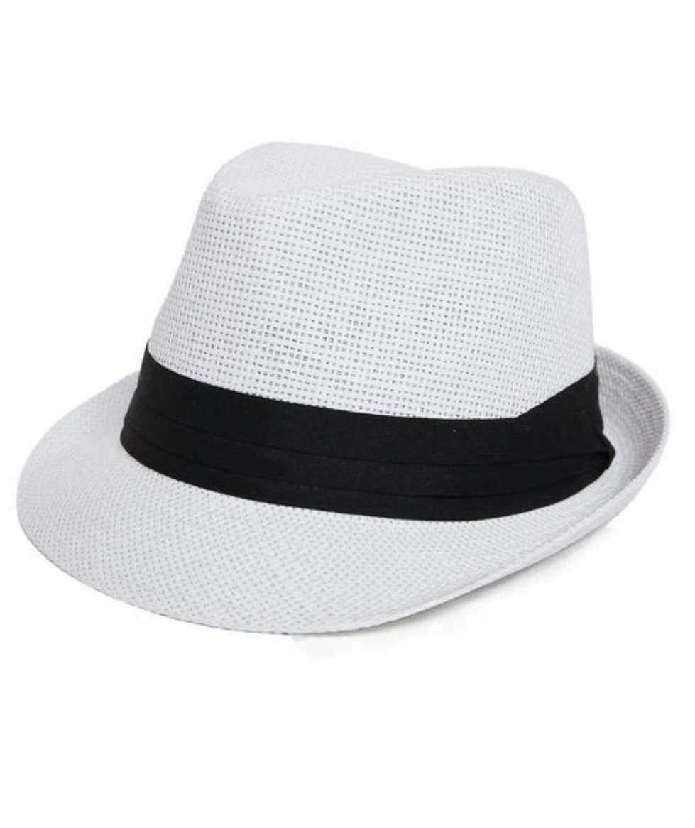 white boho chic fedora hat for boho chic fashionistas