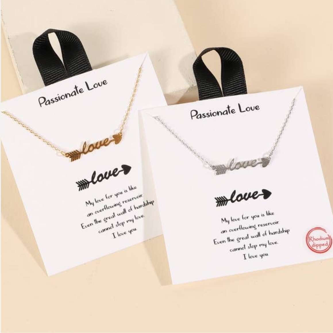 Boutique Style Script Love Arrow Necklace