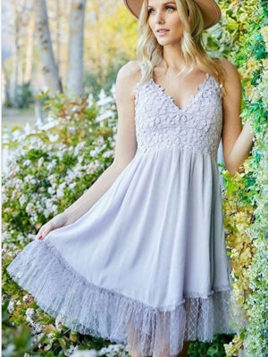 Canada online boutique store lavender and lace dress
