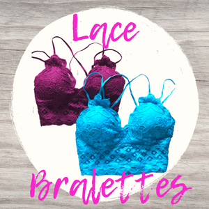 Lace Bralette Turquoise