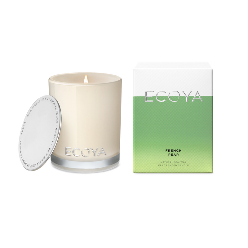 Ecoya French Pear Madison Jar Large Candles