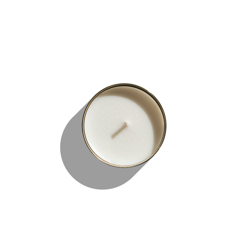 LUNA ISLAND FIG, CASSIS & PEACH - LARGE BRASS LUXURY CANDLE