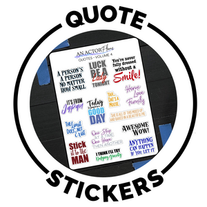 Broadway quote planner stickers