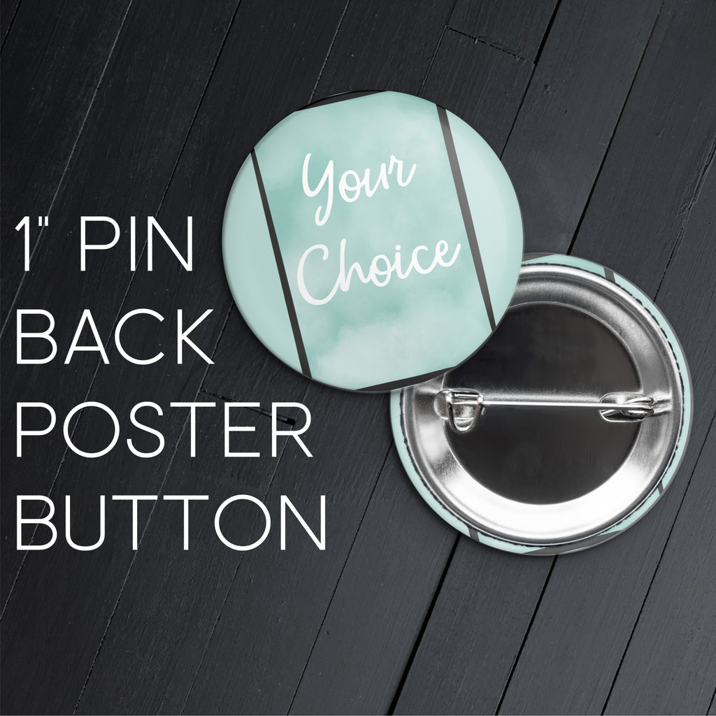 Broadway Poster Button Pin
