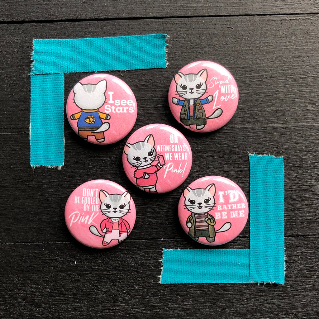 Mean Kittens // Mabel // Pin Back Button