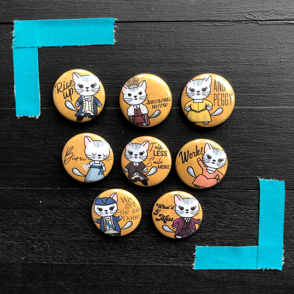 Hamil-strays // Mabel // Pin Back Button