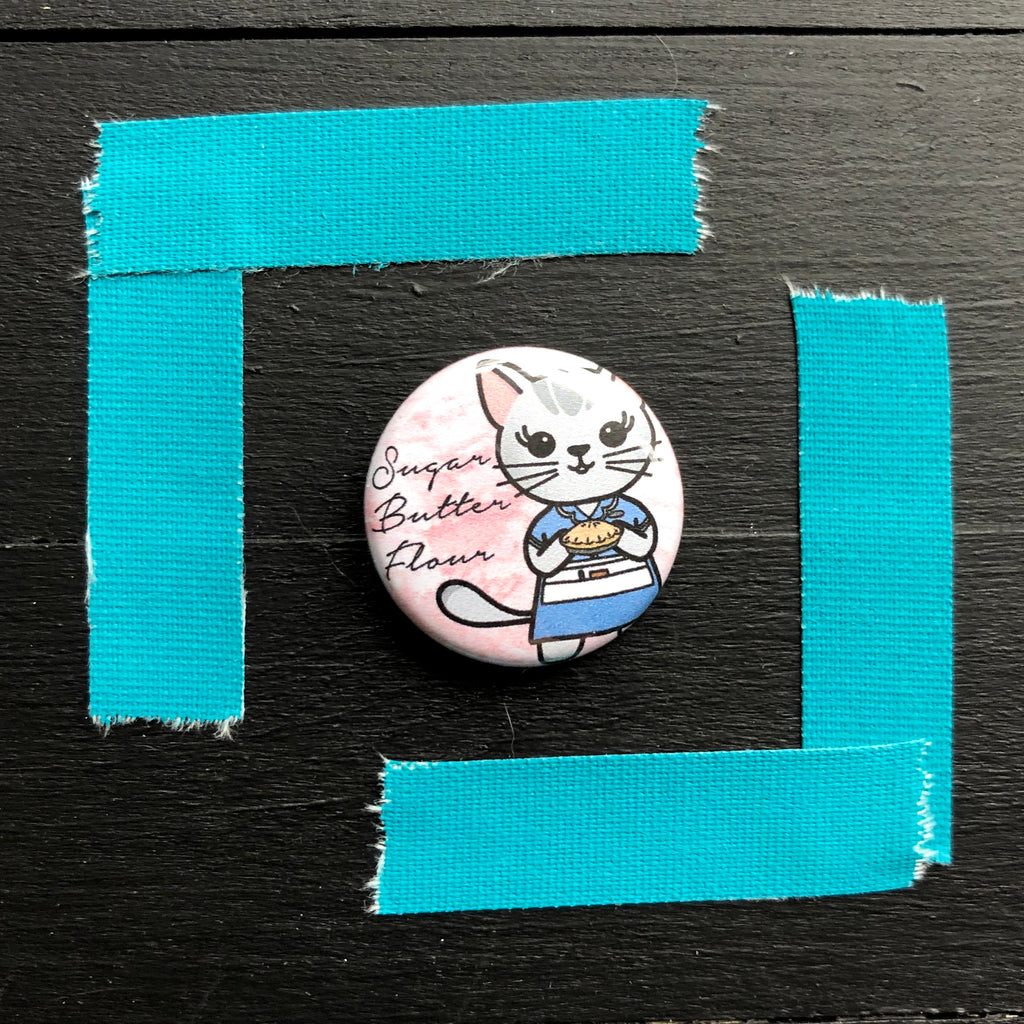 Waitress // Mabel // Pin Back Button