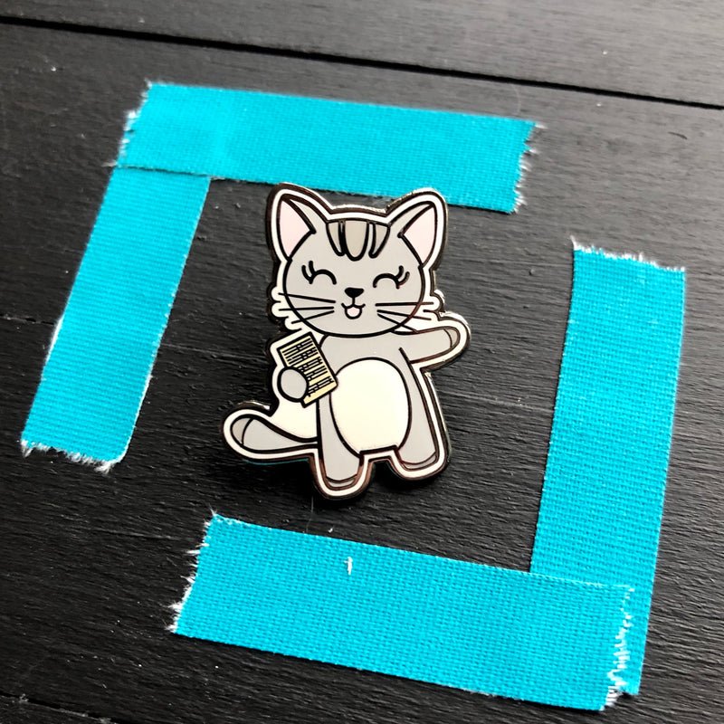 Mabel Sings! -  Enamel Cat Pin