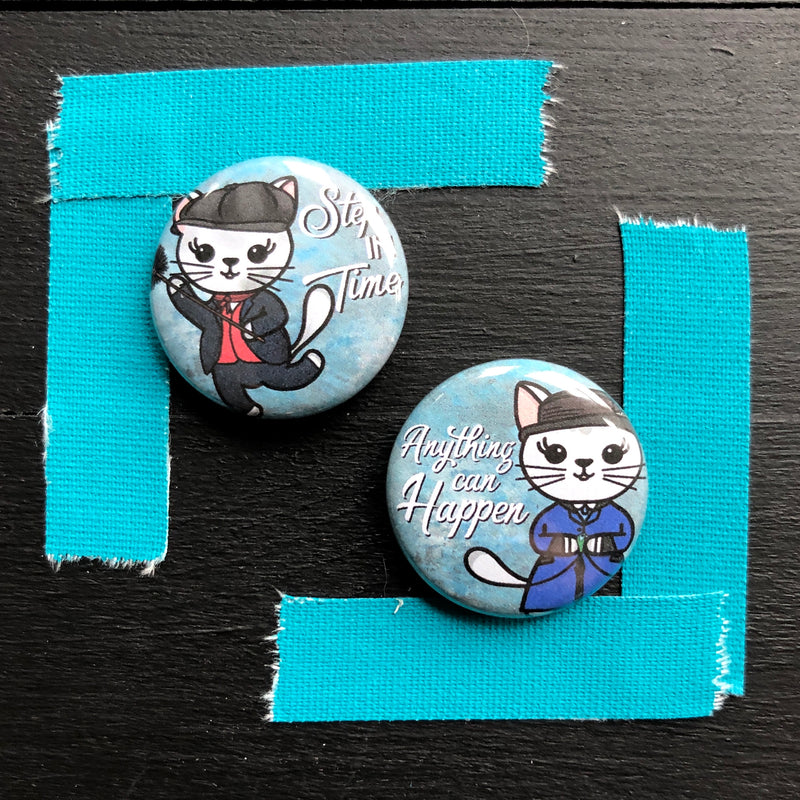 Mary Paw-Pins // Mabel // Pin Back Button