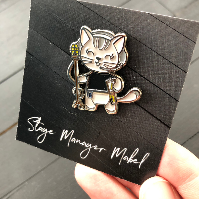 Stage Manager //  Enamel Cat Pin
