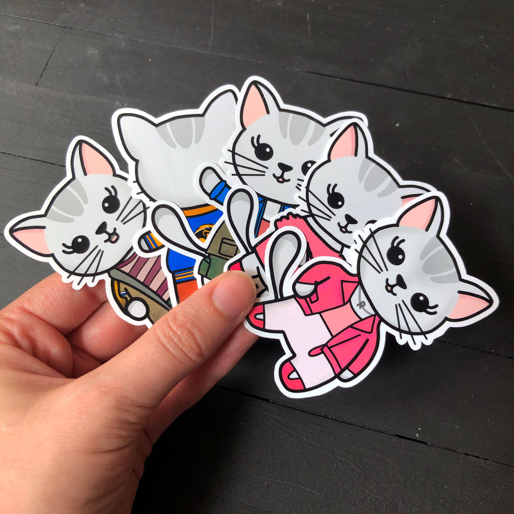 Mean Kittens // Mabel // Die Cut Sticker