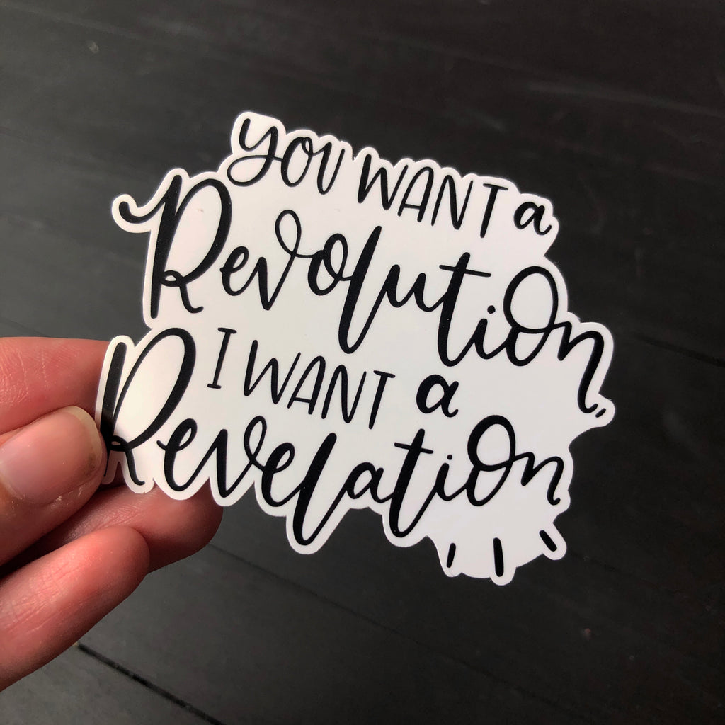 Revolution vs. Revelation // Die Cut Sticker
