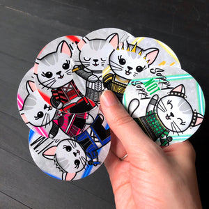 Six // Mabel // Circle Die Cut Sticker Pack