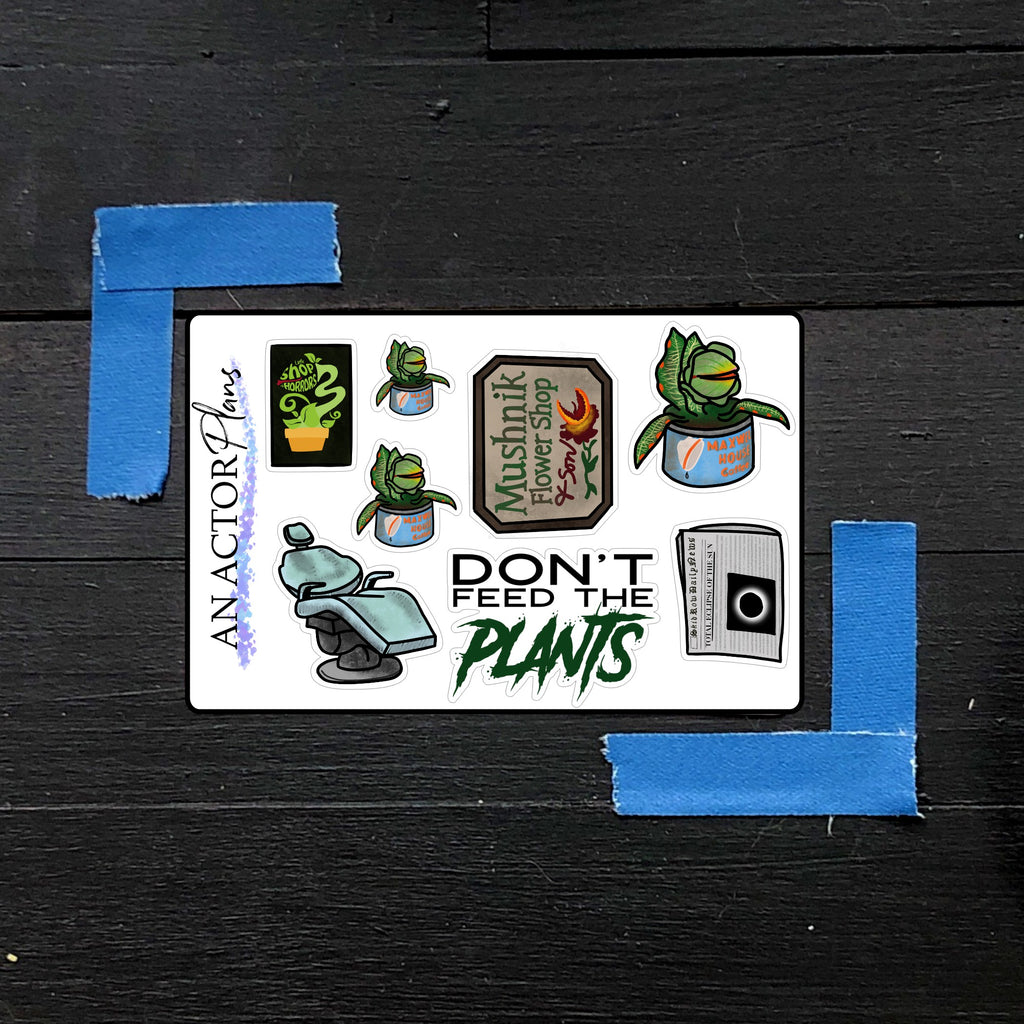 Don't Feed the Plants // Mini Sticker Sheet
