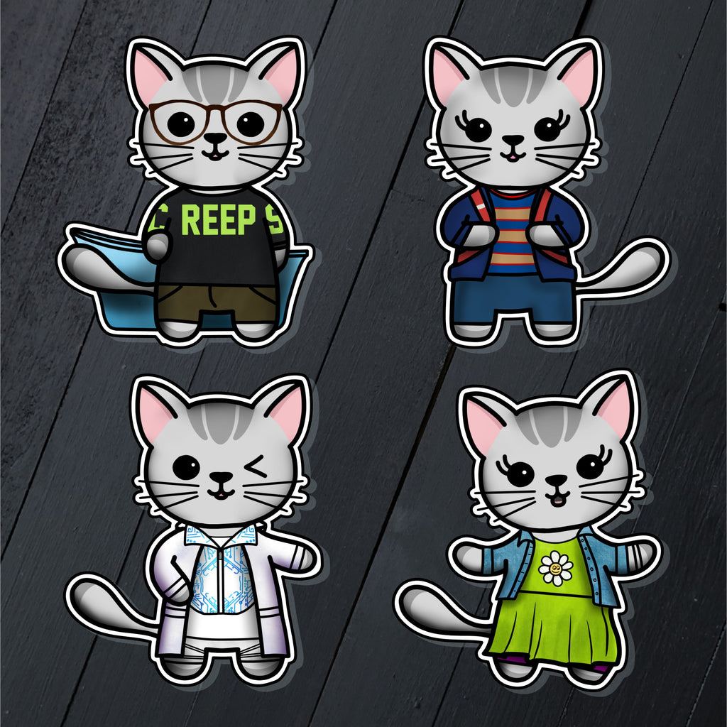 Be Meow Chill // Mabel // Die Cut Sticker Pack