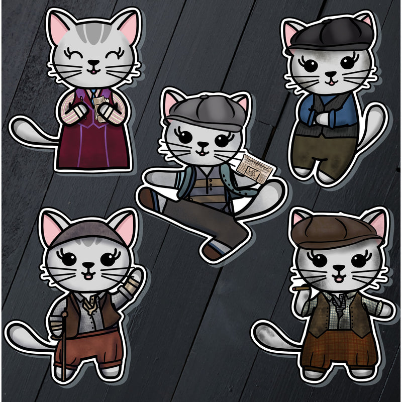 Meow-sies // Mabel // Die Cut Sticker Pack