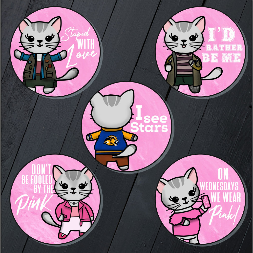 Mean Kittens // Mabel // Circle Sticker Pack