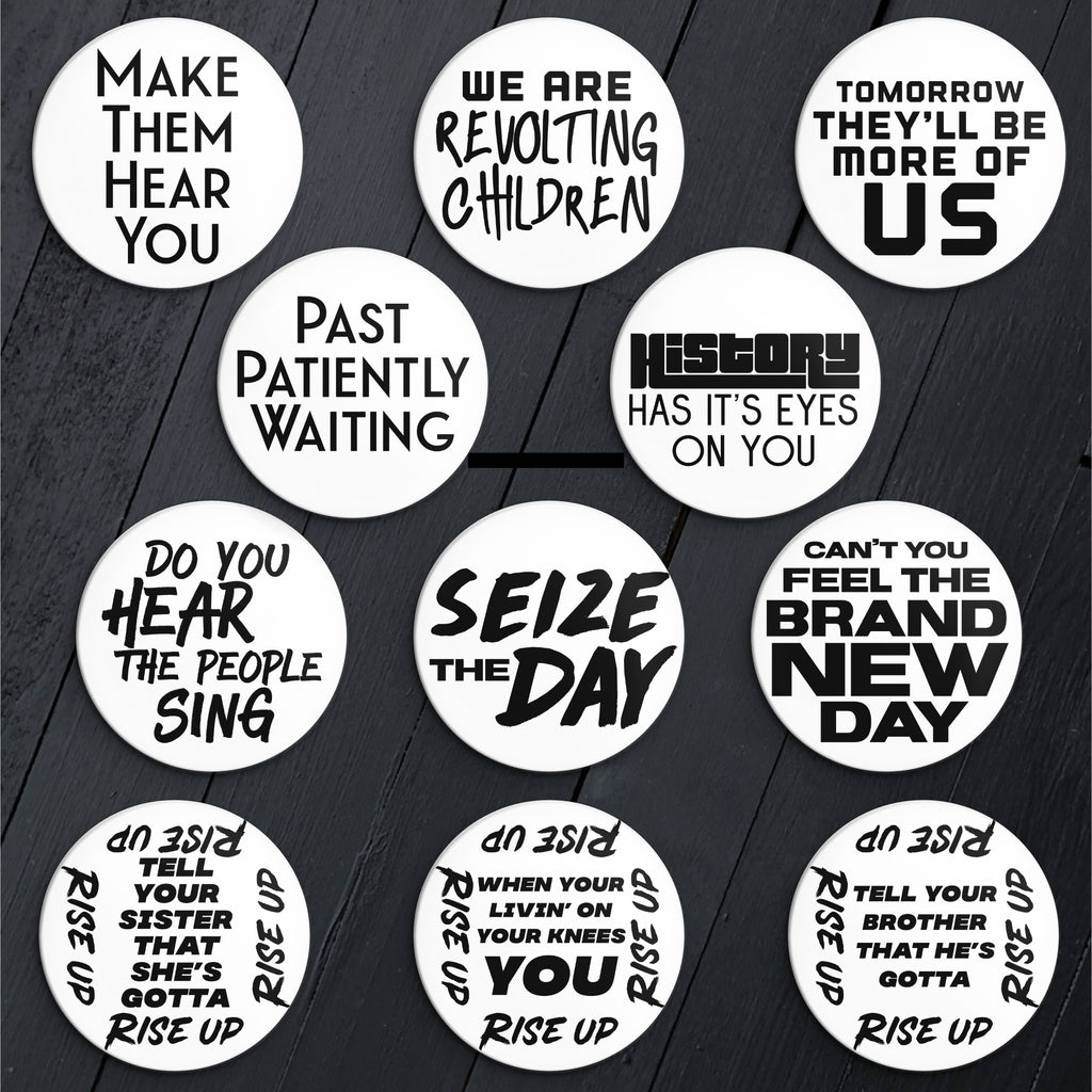 Revolution Quotes // Pin Back Button Set