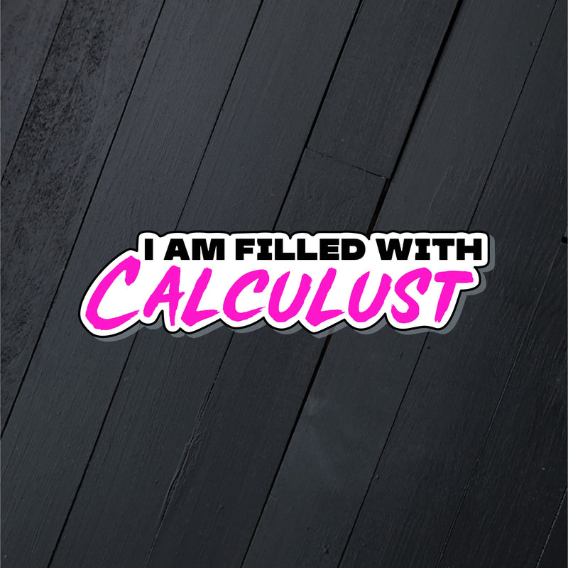 Calculust // Die Cut Sticker