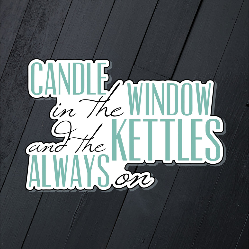 Candle in the Window // Die Cut Sticker