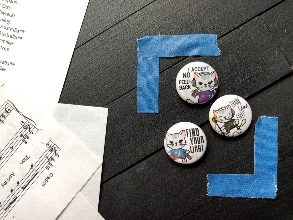 Theatre Tech -  1 Inch Pin Back Button Set