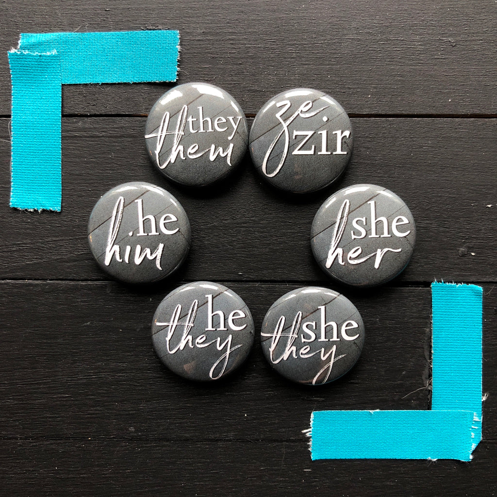 Personal Pronoun // Pin Back Button