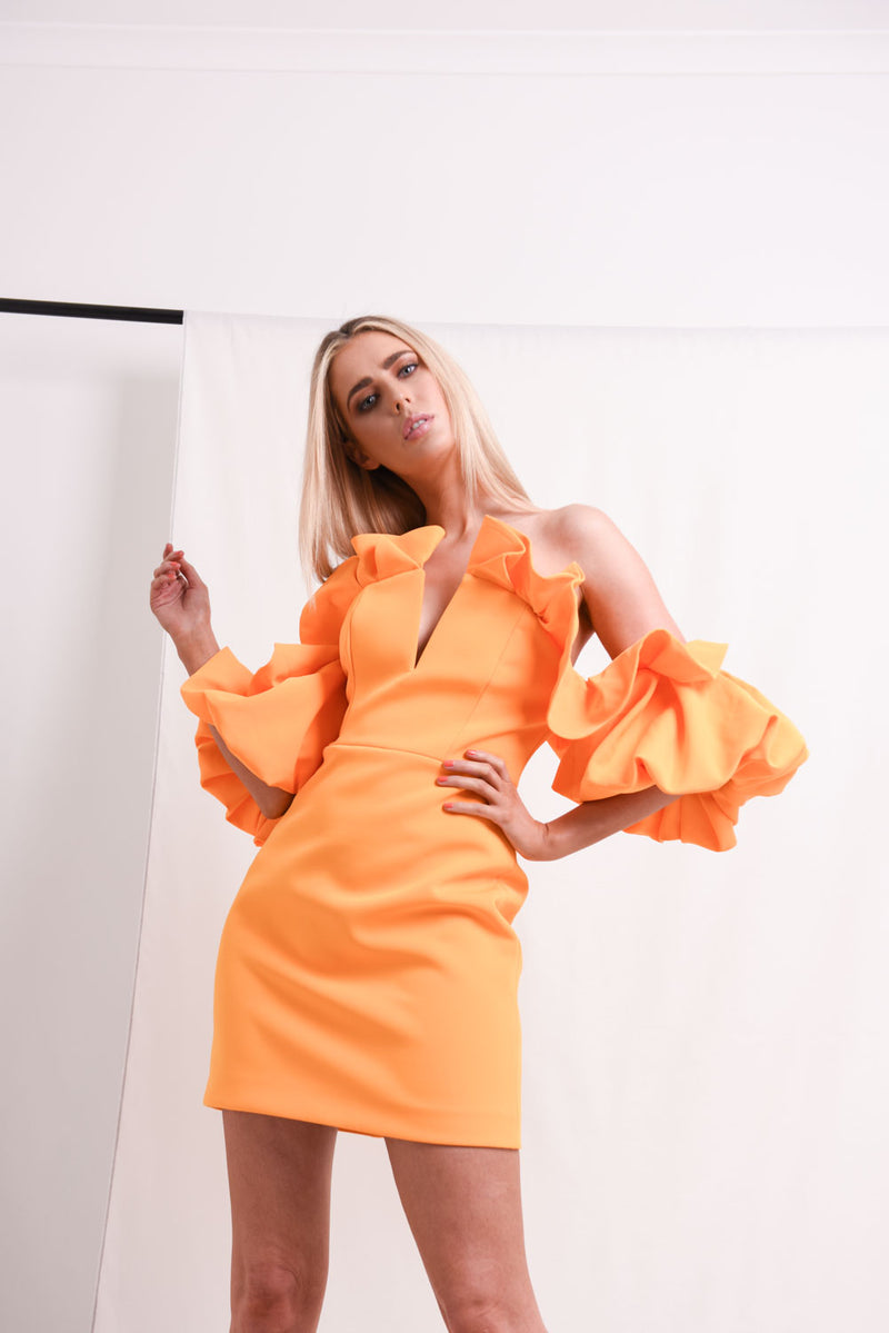 ACLER Hitching Mini Dress Citrus