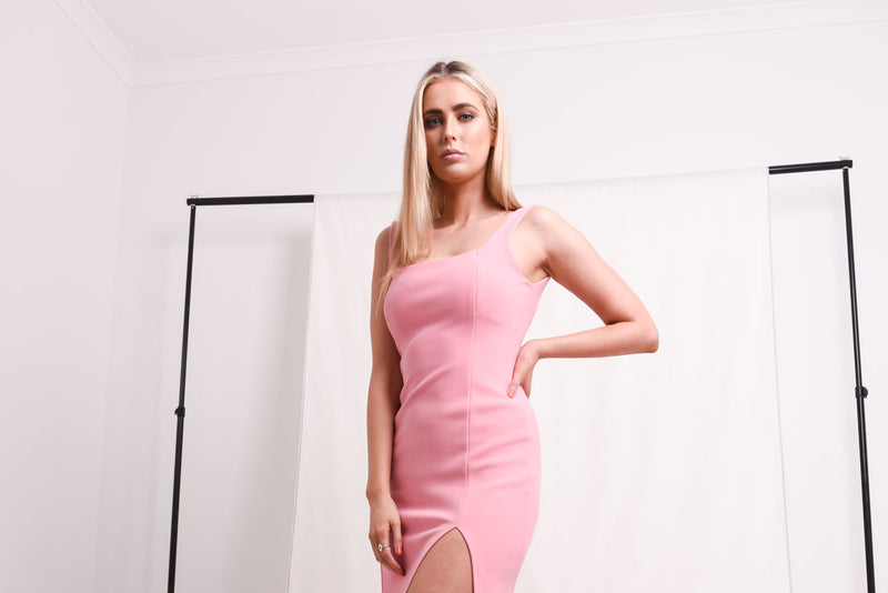 Bec & Bridge Dress Hire Pink Flamingo