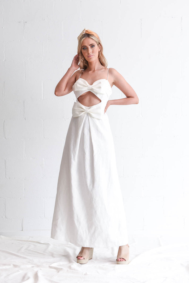 Zimmermann Corsage Bow Dress Hire