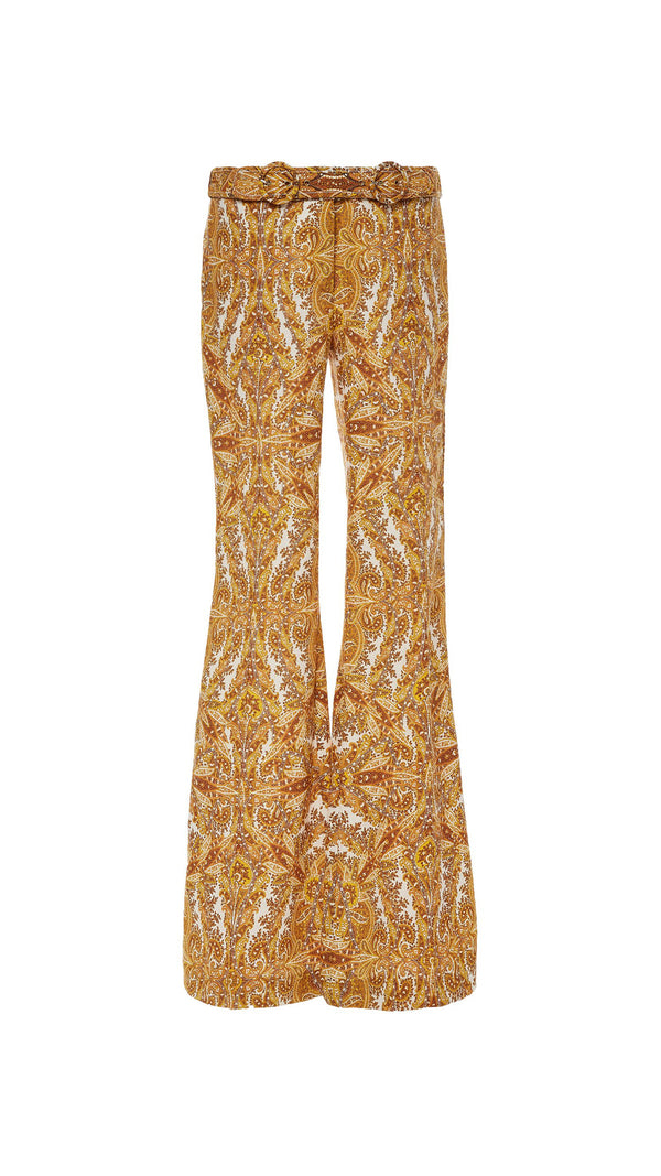 Zimmermann Zippy Golden Flare Pant