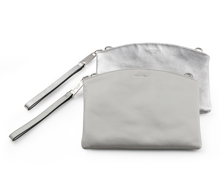 SUNRISE DOUBLE POUCH X BODY - CLOUD + SILVER MOON - CALA VELA