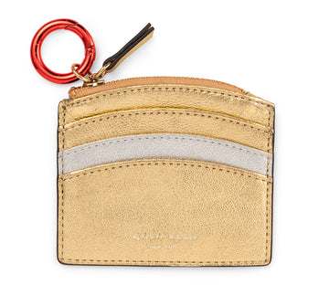 SUNRISE ZIP CARD HOLDER - GOLD STAR & SILVER MOON - CALA VELA