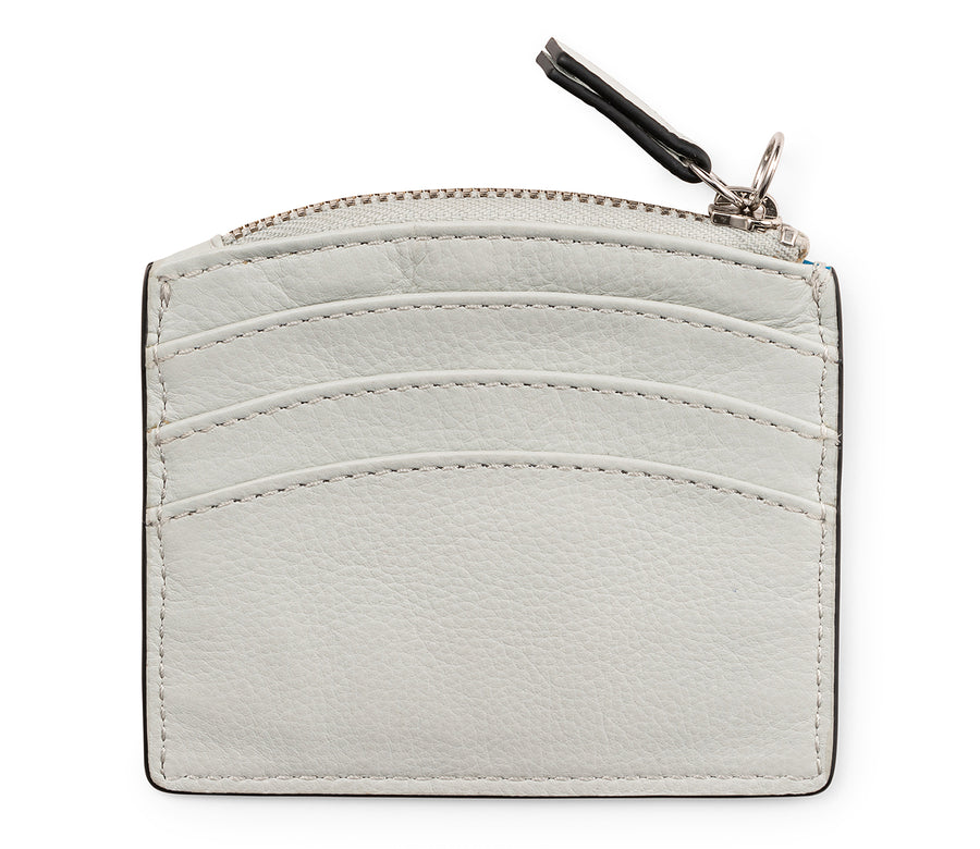 SUNRISE ZIP CARD HOLDER - CLOUD & SILVER MOON - CALA VELA