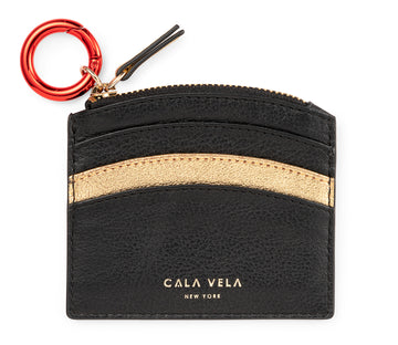 SUNRISE ZIP CARD HOLDER - NIGHT & GOLD STAR - CALA VELA