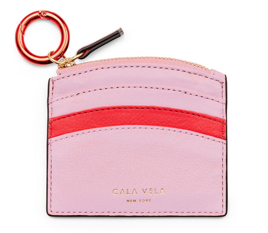 SUNRISE ZIP CARD HOLDER - FLAMINGO - CALA VELA