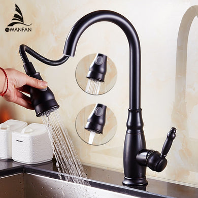 Height Adjustable Pull-Out Sink Tap Two water flow modes