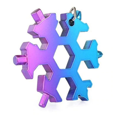 18-in-1 Stainless Multi-function with Snowflake Shape