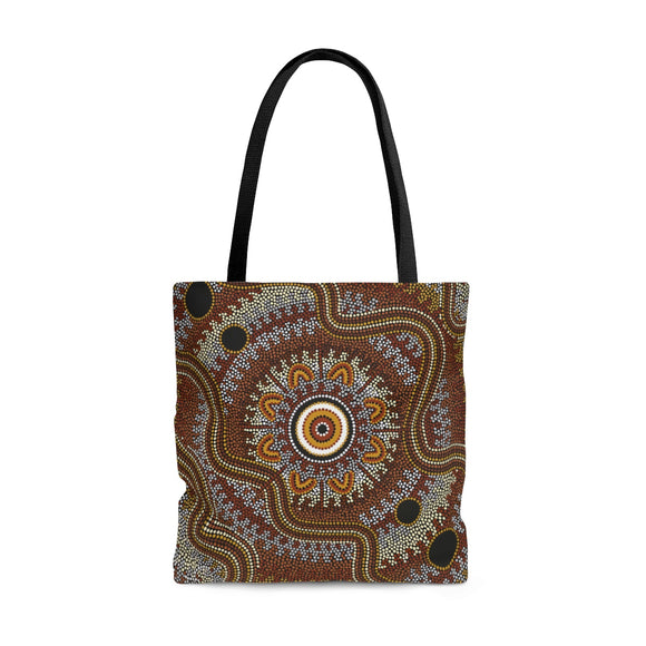 Aboriginal Art Design Tote Bag