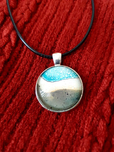 Abstract Art Pendant Necklace