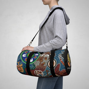 Duffle Bag Contemporary Aboriginal Art Designed Print