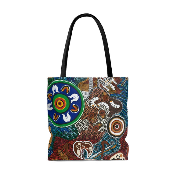 Contemporary Aboriginal Art Design Print AOP Tote Bag