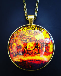 Abstract Art Pendant Necklaces 25mm