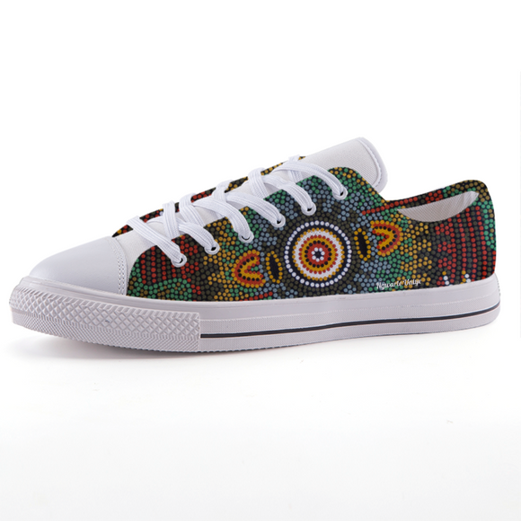Traditional Aboriginal Art Design Print Low-top fashion canvas shoes