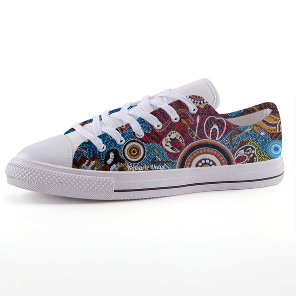 Contemporary Aboriginal Art Designed Print Low-top fashion canvas shoes