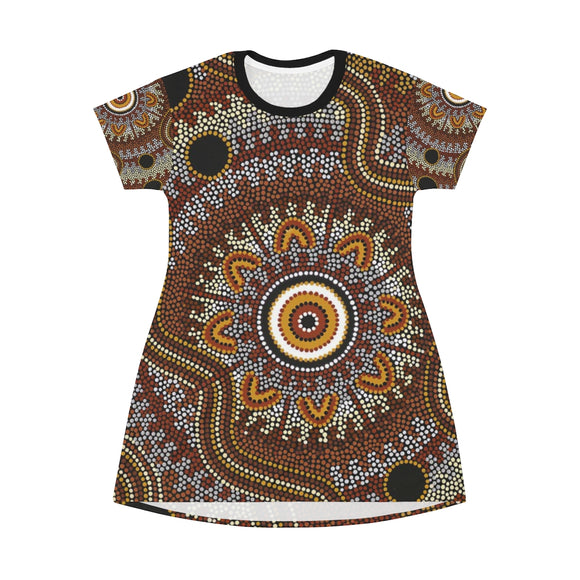 All Over Print T-Shirt Dress