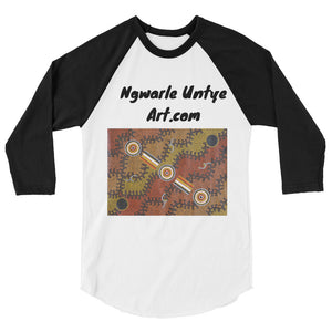 Ngwarle Untye Art Designed 3/4 sleeve raglan shirt